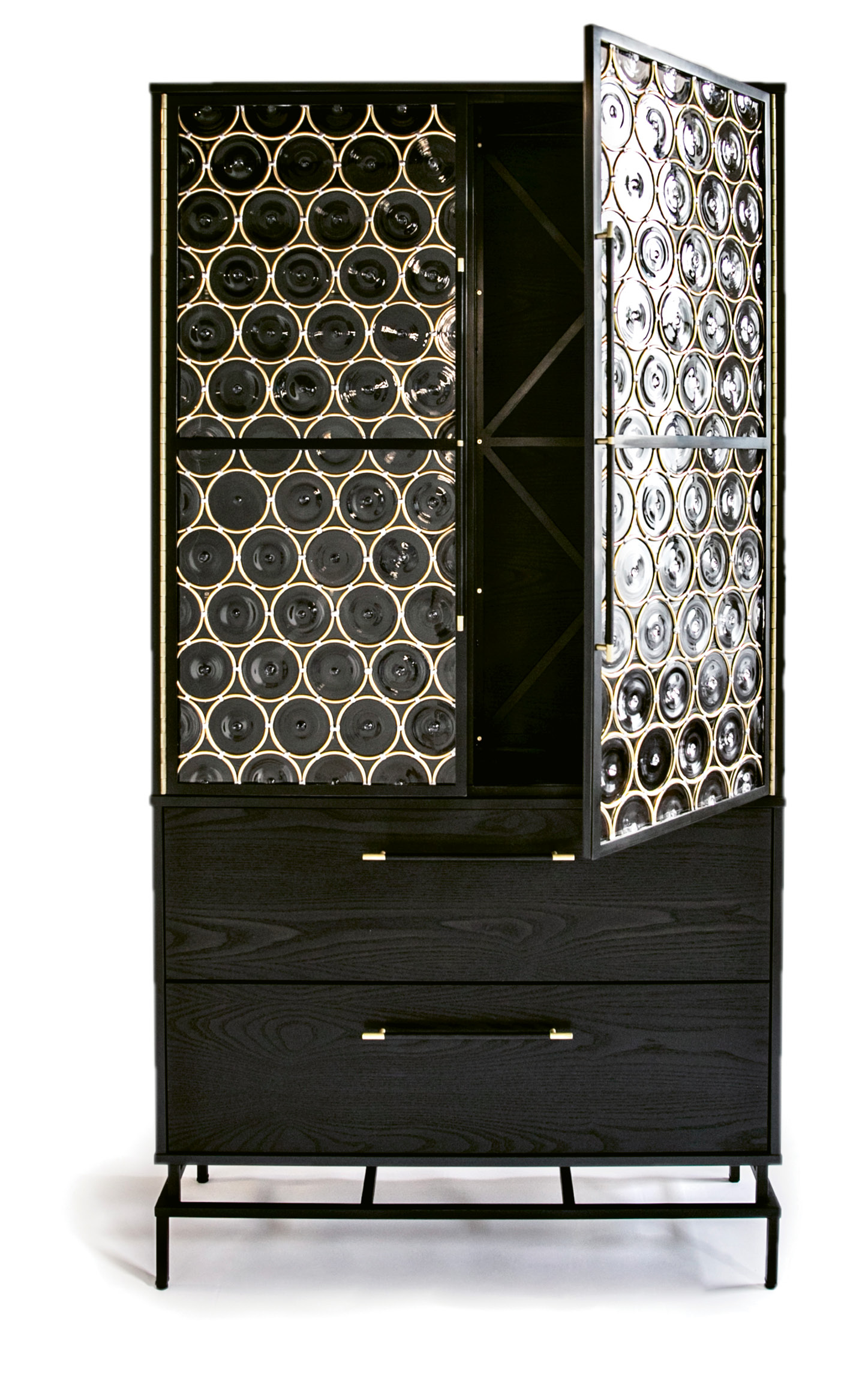 """Rondelle"" armoire by John Pomp, price upon request at Ginger Brewton Interiors"
