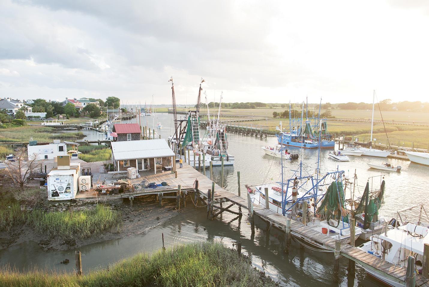 The shrimp docks near Charleston Harbor