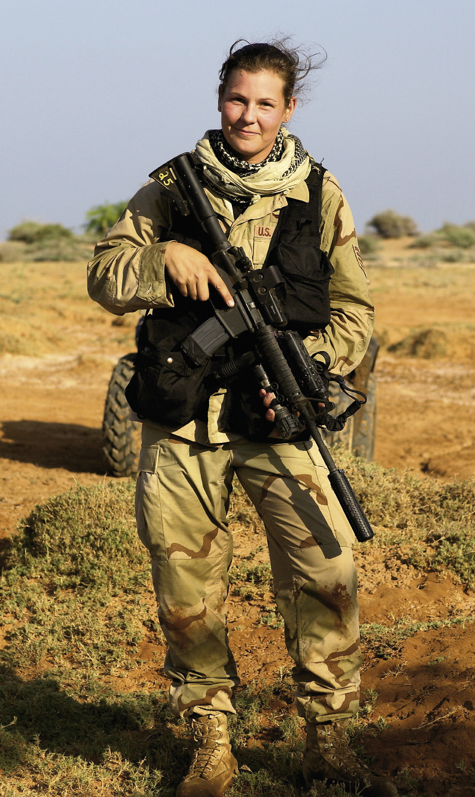 November 4, 2005: Staff Sgt. Stacy L. Pearsall on an operation with Special Forces personnel near the border of Somalia