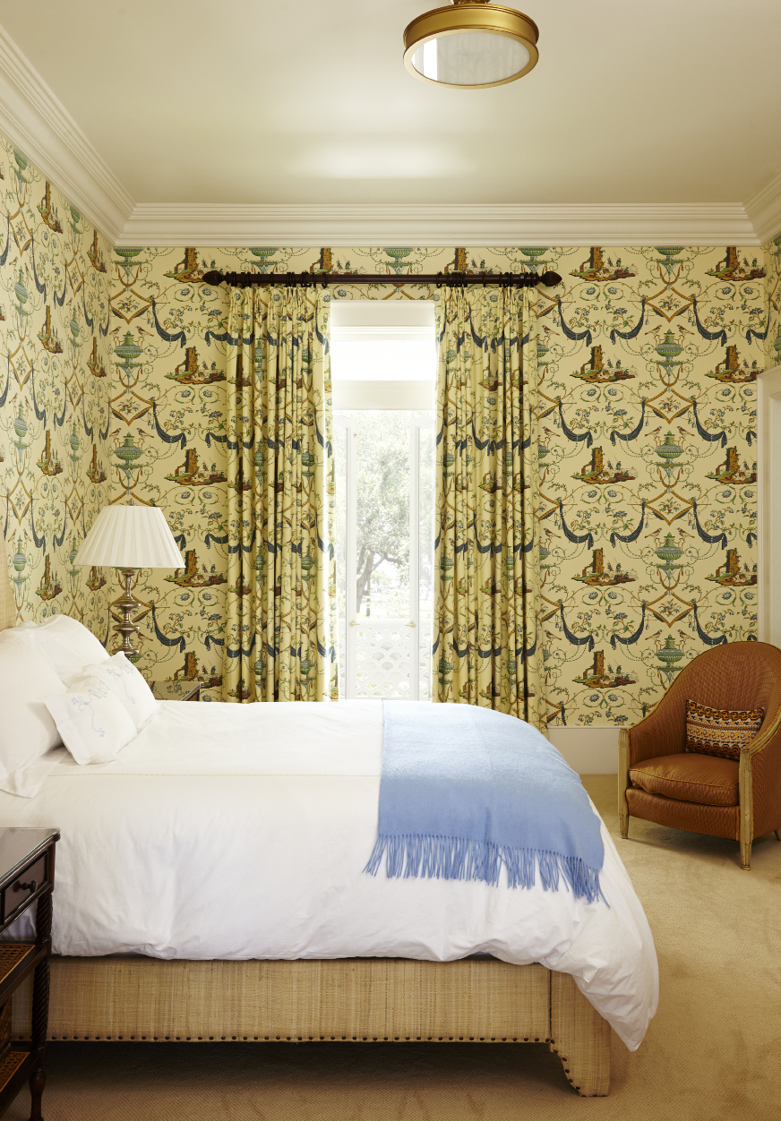 A guest room on the second floor offers prime White Point Garden views.
