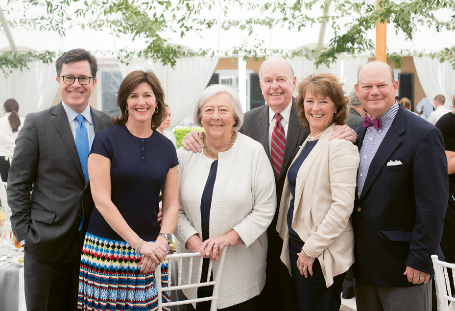 "Peter and Patti at the Spoleto luncheon with their daughters and sons-in-law, Evelyn (""Evie"") and Stephen Colbert and Madeleine and Bunky Wichmann"