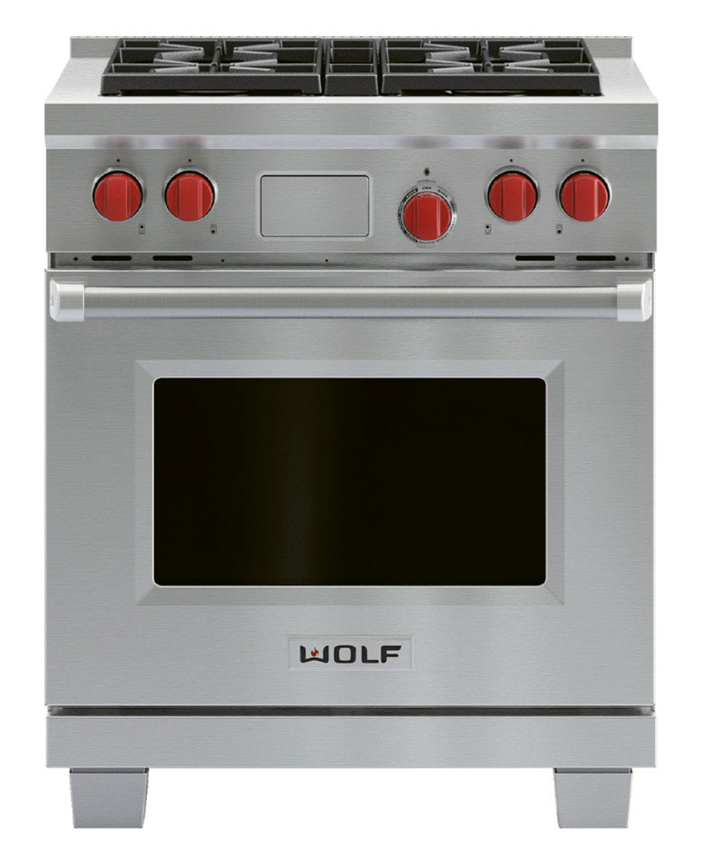 "Dual-fuel 30"" Wolf range, $6,055,  at Ferguson Bath, Kitchen, & Lighting Gallery"