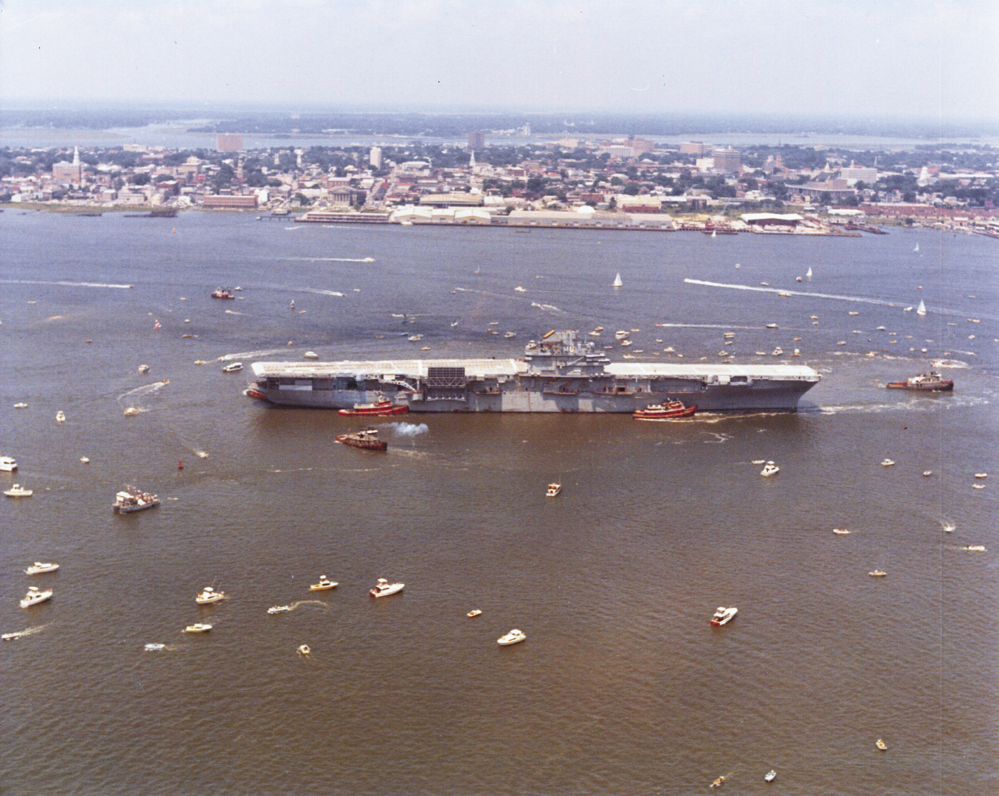June 15,1975: the day the USS Yorktown arrived in Charleston Harbor