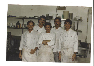 With his culinary crew at Wild Dunes