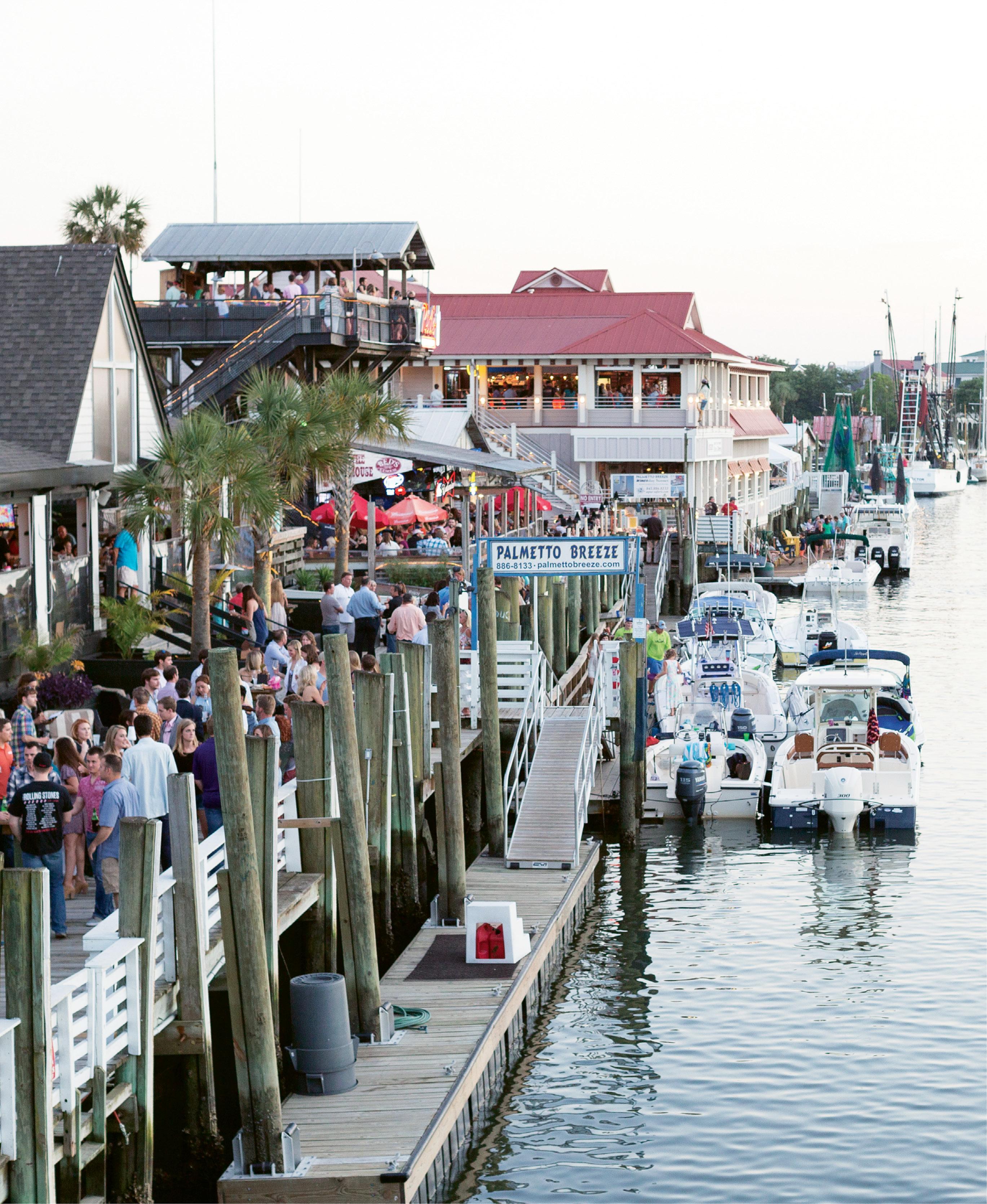 Shem Creek's bustling docks host 4,000 people or more during any given week.