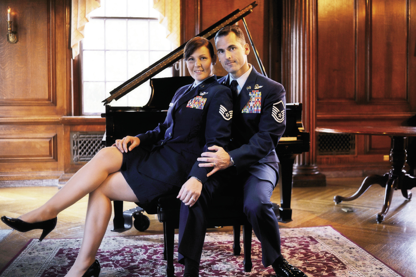 Pearsall and husband Andy Dunaway took a self-portrait in Washington, D.C., where she accepted the 2009 Air Force Veteran of the Year award.