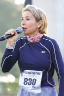 A 2012 speaking event in Fort Wayne, Indiana, sponsored by radio station WBCL, for which she does a monthly show; giving a pre-race pep talk at the 2006 Charleston Race for the Cure