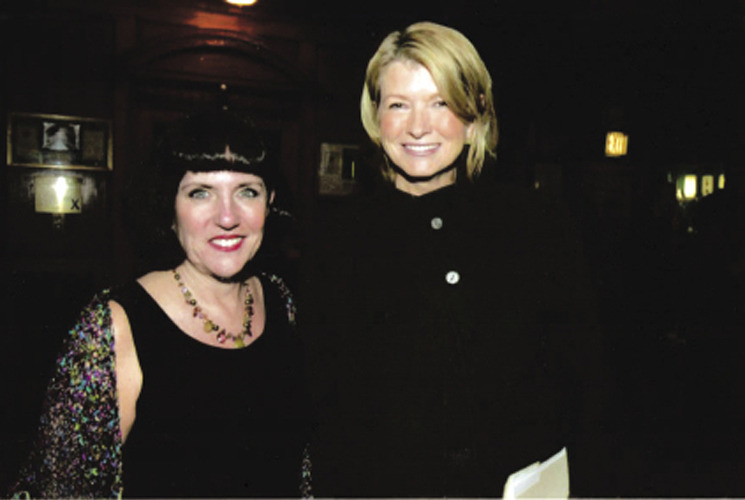 """Her stint as co-CEO of Martha Stewart Living Omnimedia was after Stewart's incarceration, and Millard (shown here with Stewart at the American Advertising Federation Awards gala in 2006) welcomed the challenge. """"I love a hair ball,"""" she says. """"Hmmm, how to manage a brand when your brand goes to jail, now there's a good one!"""""""