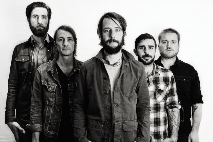 Lead guitarist Tyler Ramsey, bassist Bill Reynolds, lead singer/songwriter Ben Bridwell, drummer Creighton Barrett, and keyboardist Ryan Monroe.