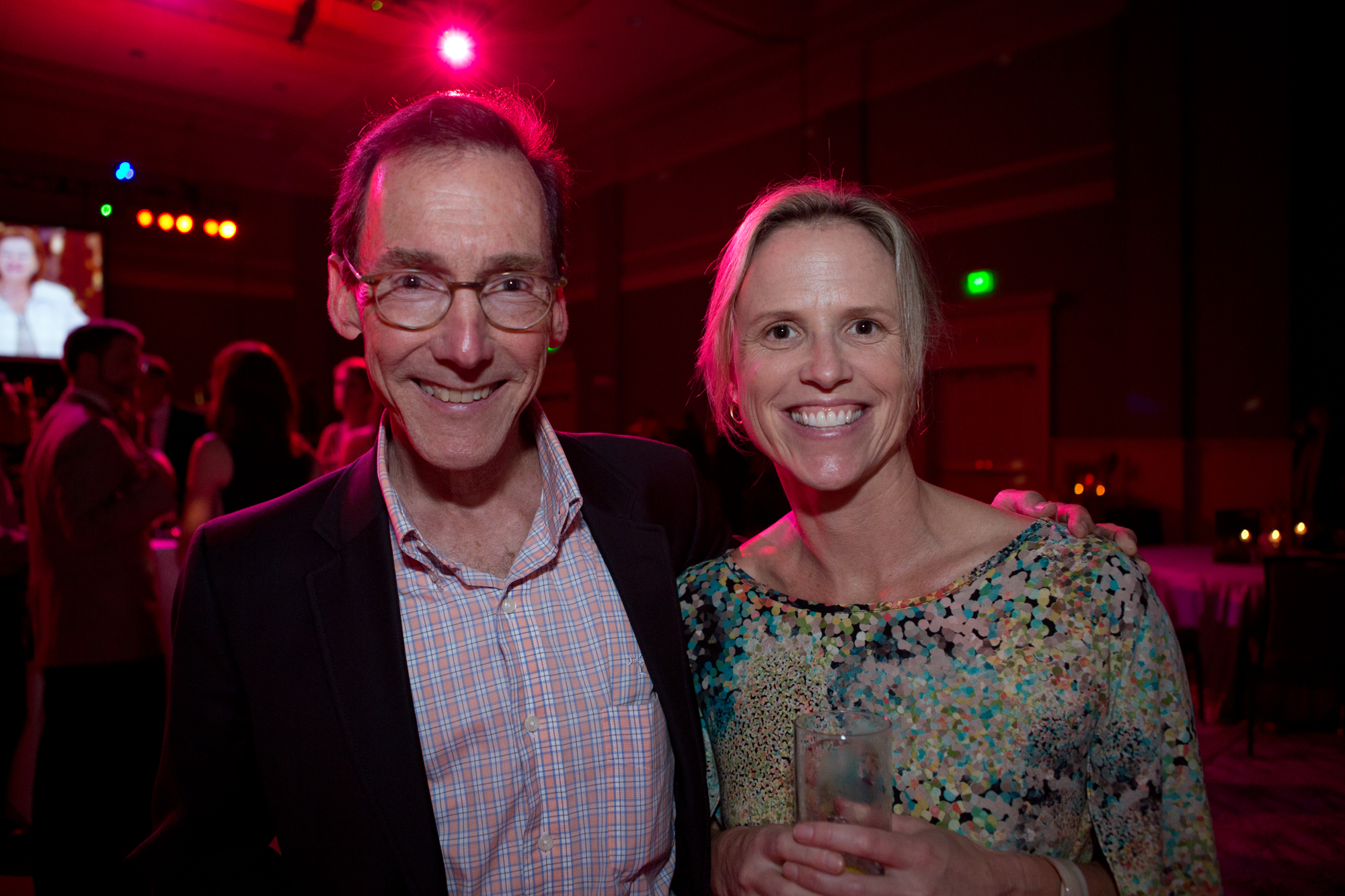 "One of the magazine's ""40 Movers & Shapers,"" Dana Beach of Coastal Conservation League with GrowFood Carolina's Sara Clow"