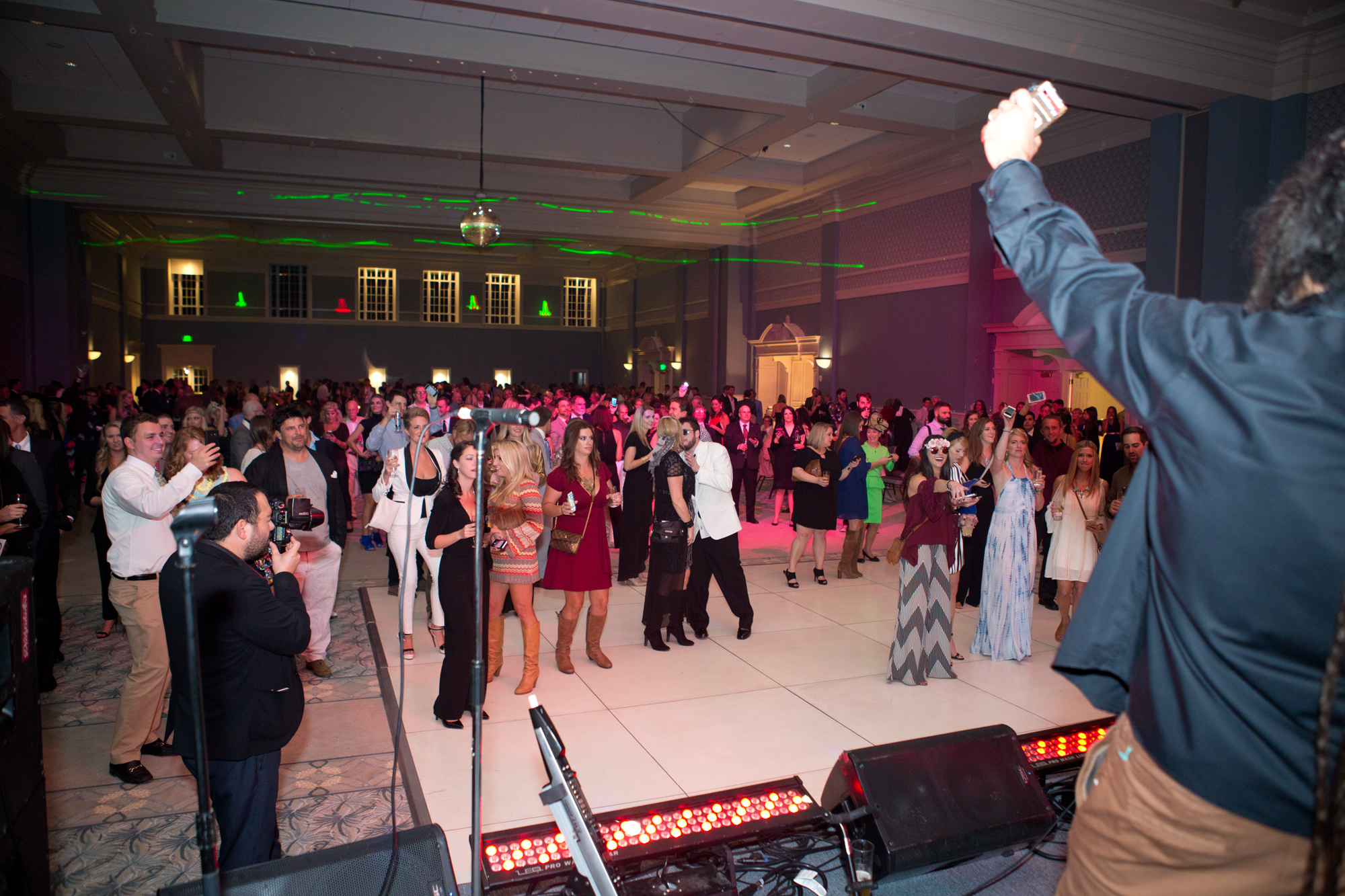 The party got started as guests danced to music from the Dubplates.