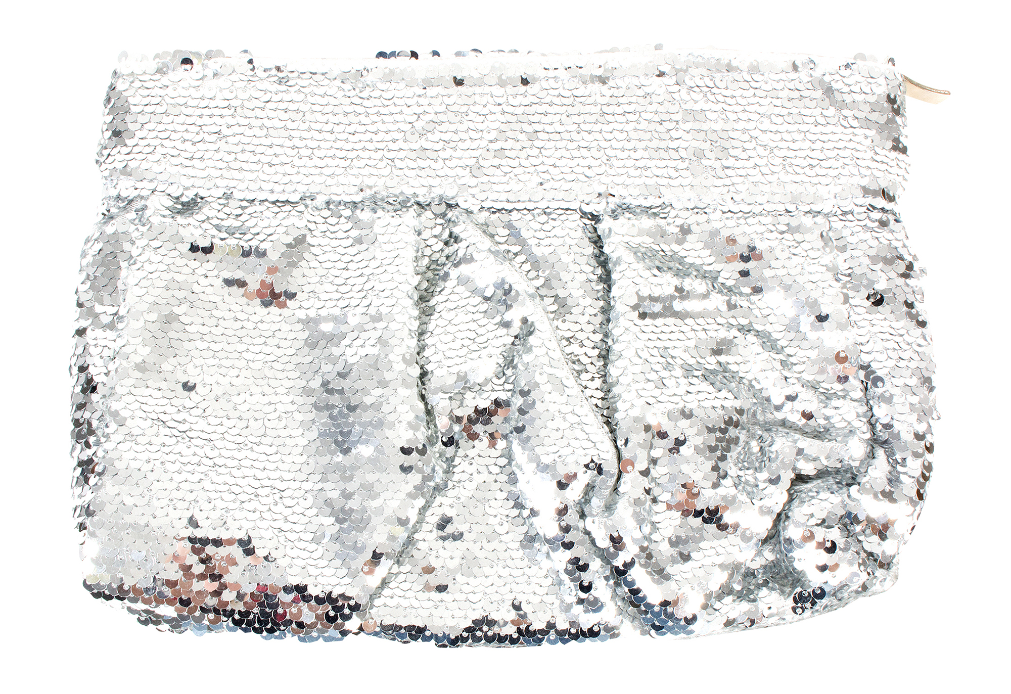 Muche et Muchette silver sequin clutch, $50 at Copper Penny