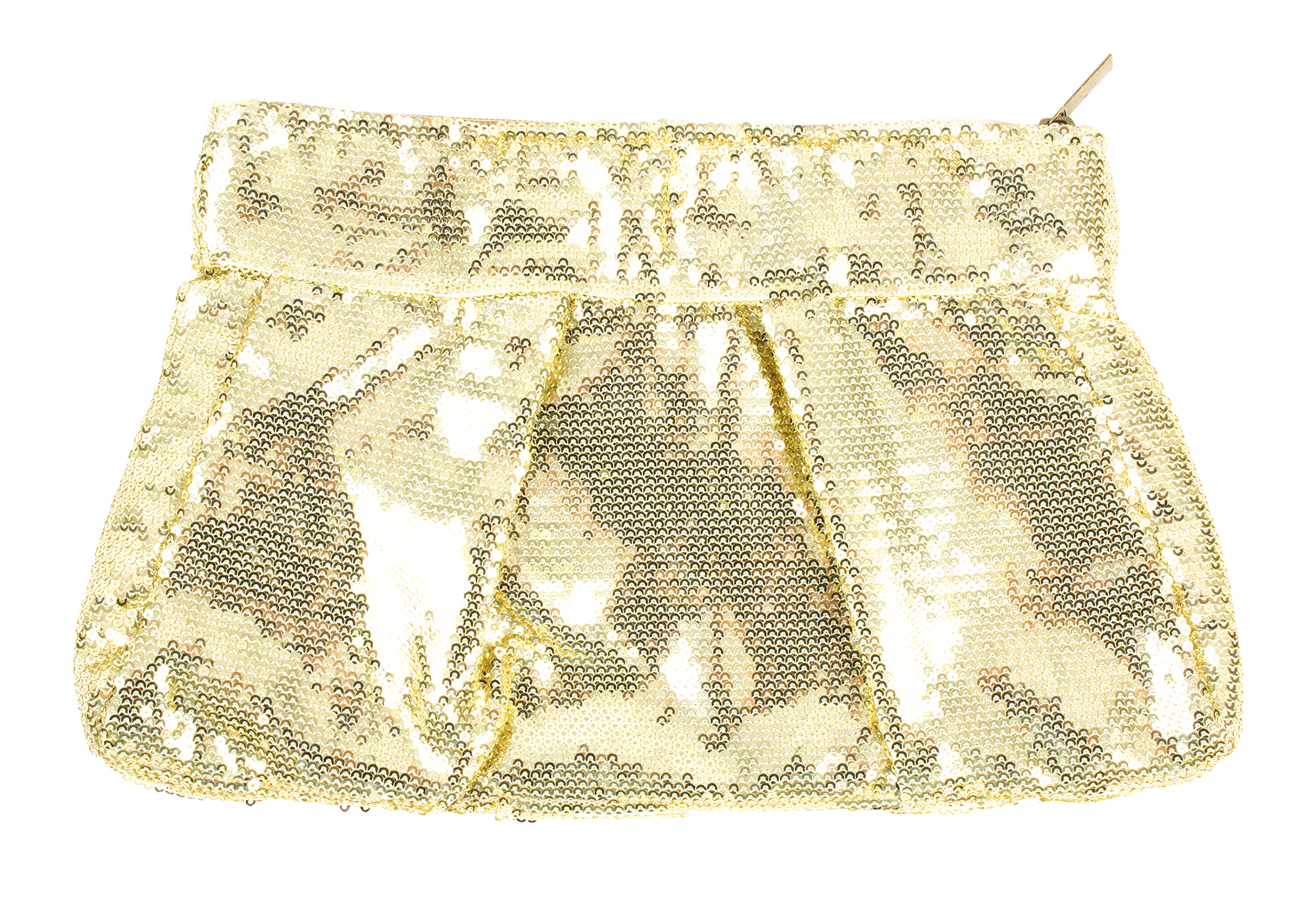 Muche et Muchette gold sequin clutch, $50 at Copper Penny
