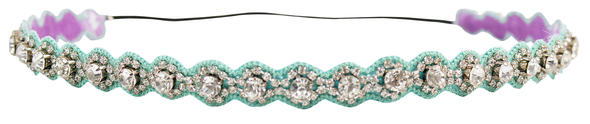 Deepa Gurnani blue rhinestone headband, $45 at Copper Penny