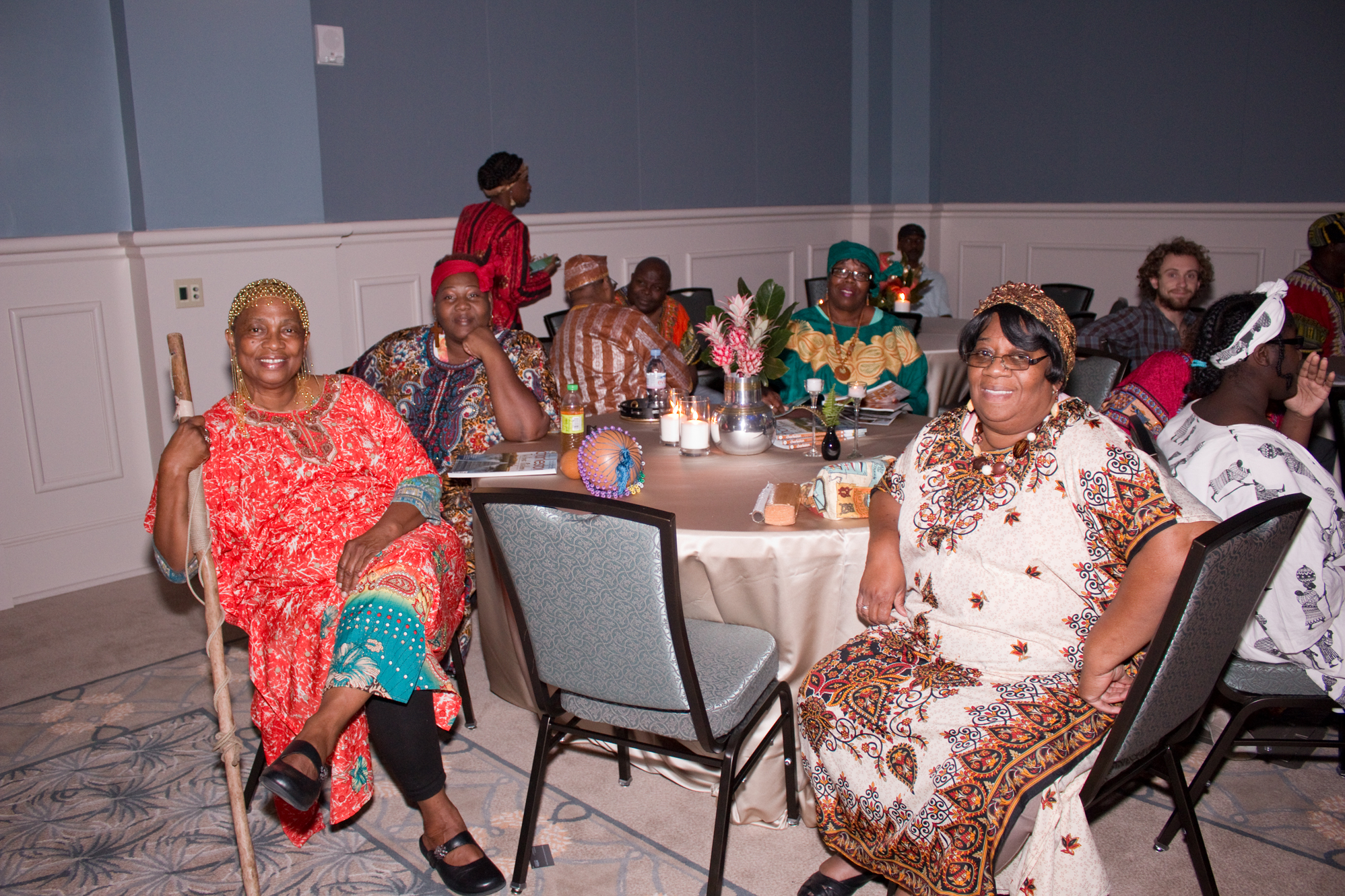 The Plantation Singers enjoy the gala after a great performance.