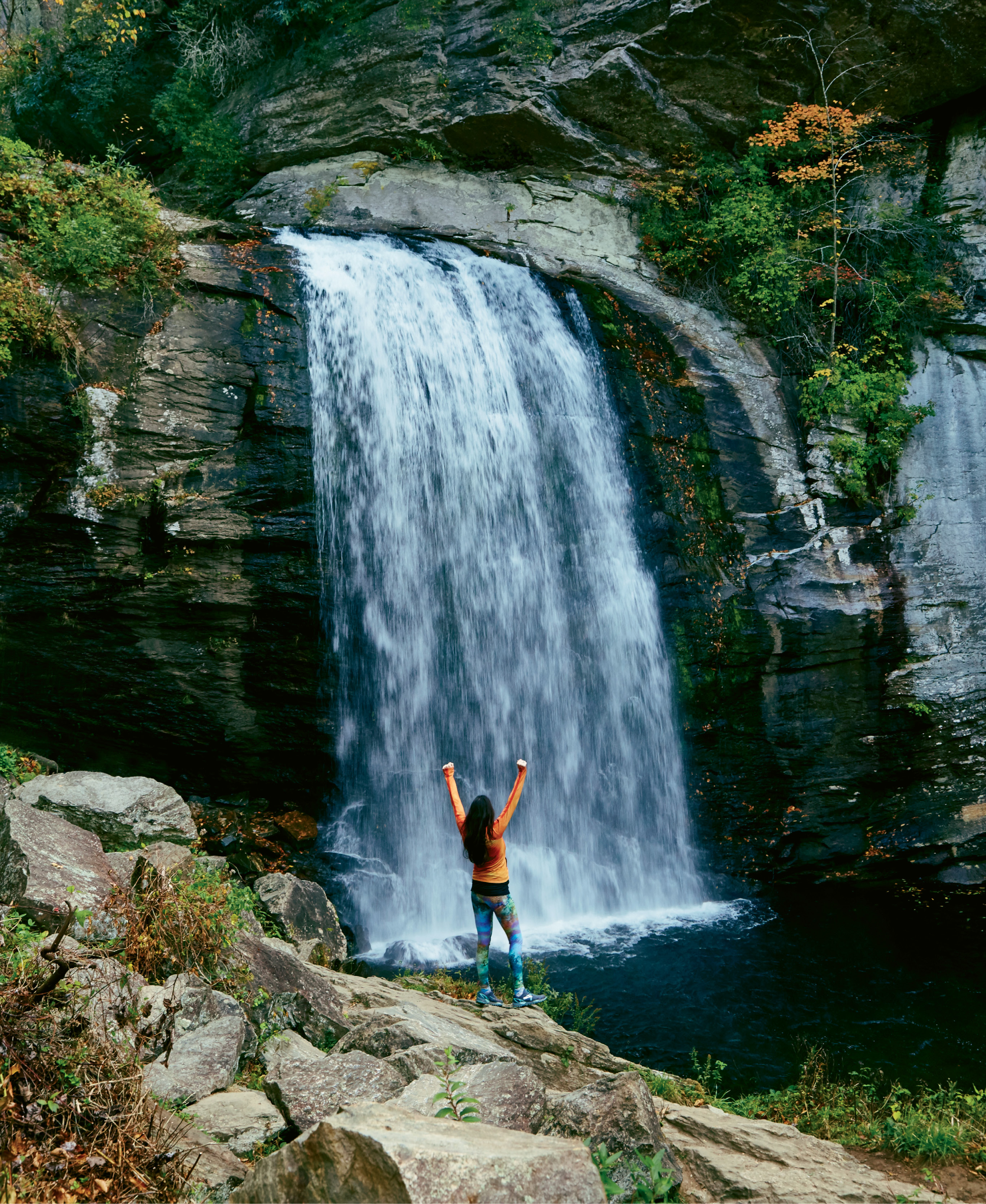 "Pisgah's Looking Glass Falls, one of 250 reasons Transylvania County is known as ""Land of Waterfalls"""