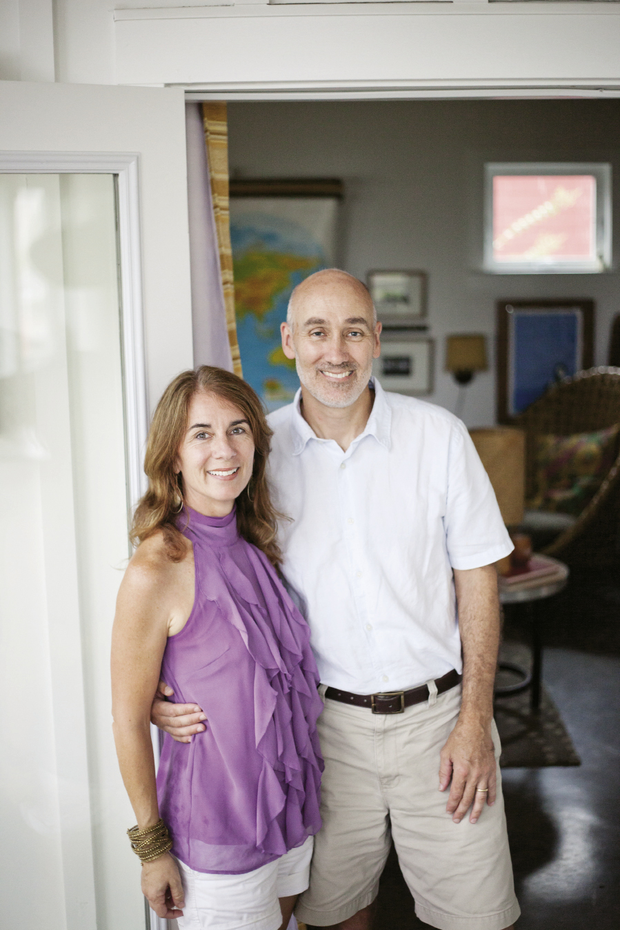 Homeowners Jennifer Mathis and Mike Cline