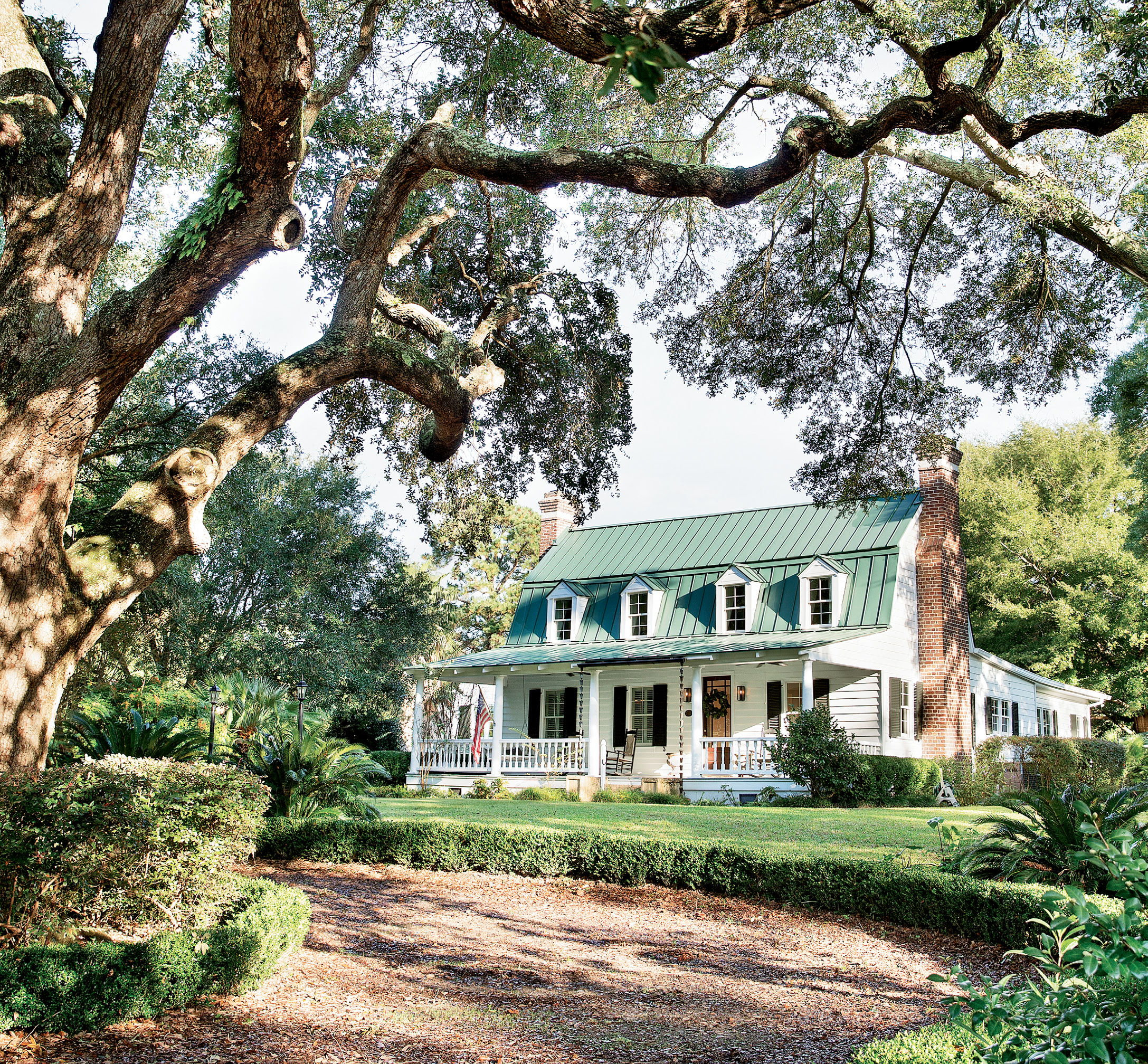 historic pedigree: The Dutch Colonial farmhouse, originally called the Heyward-Cuthbert House, was built in the 1740s by Thomas Heyward Sr. and is one of the oldest homes on James Island.