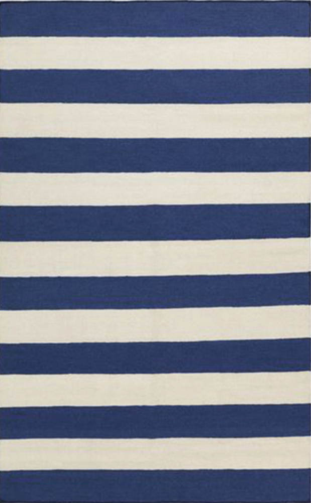 """Frontier"" striped wool rug by Surya, $315 (for 5- x 8-foot size) at Celadon Home"