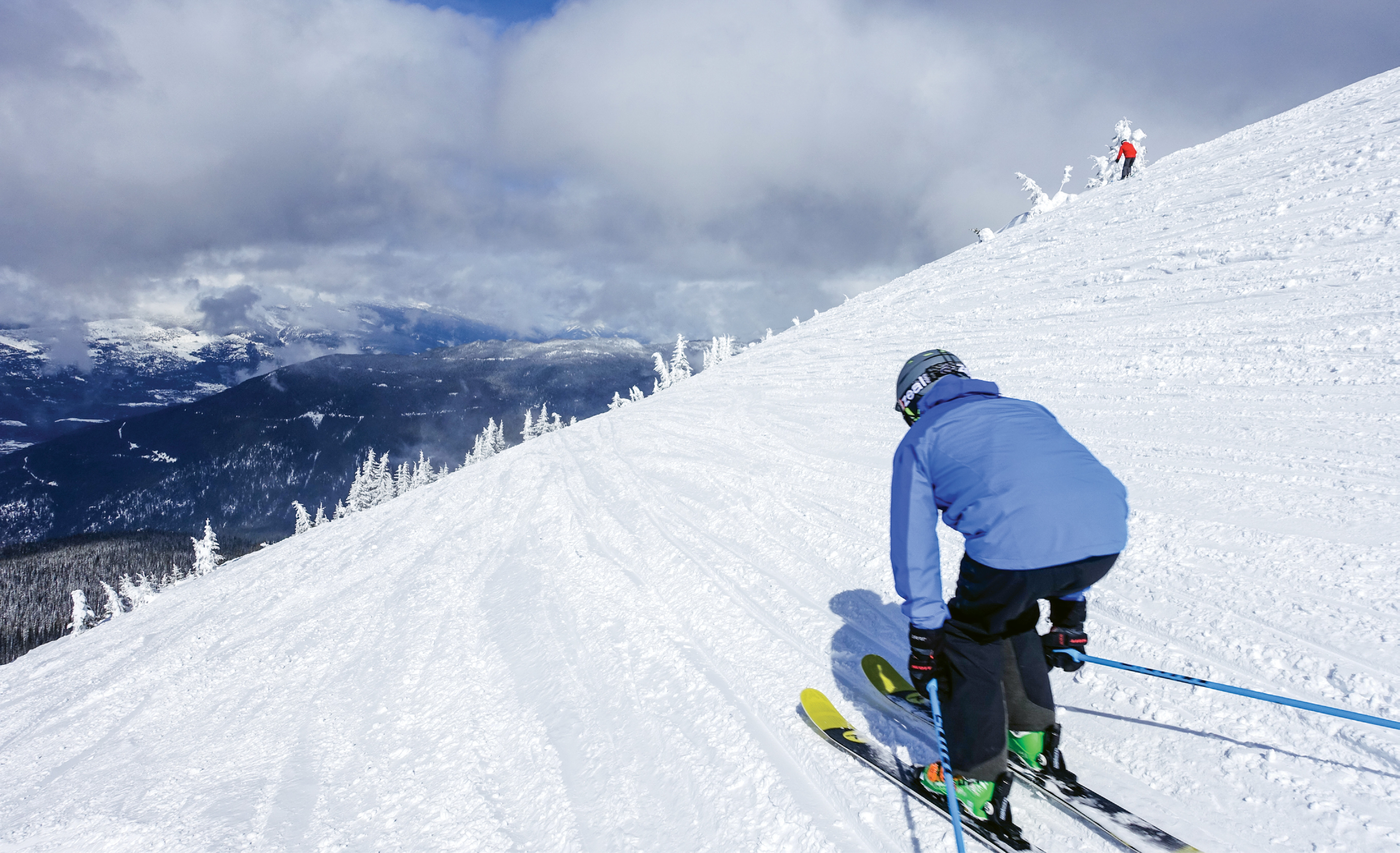 Stoked in Revelstoke: An easy traverse from the top of the British Columbia resort's highest lift yields a vast mountainside of fluffy snow bowls and inviting forested trails.
