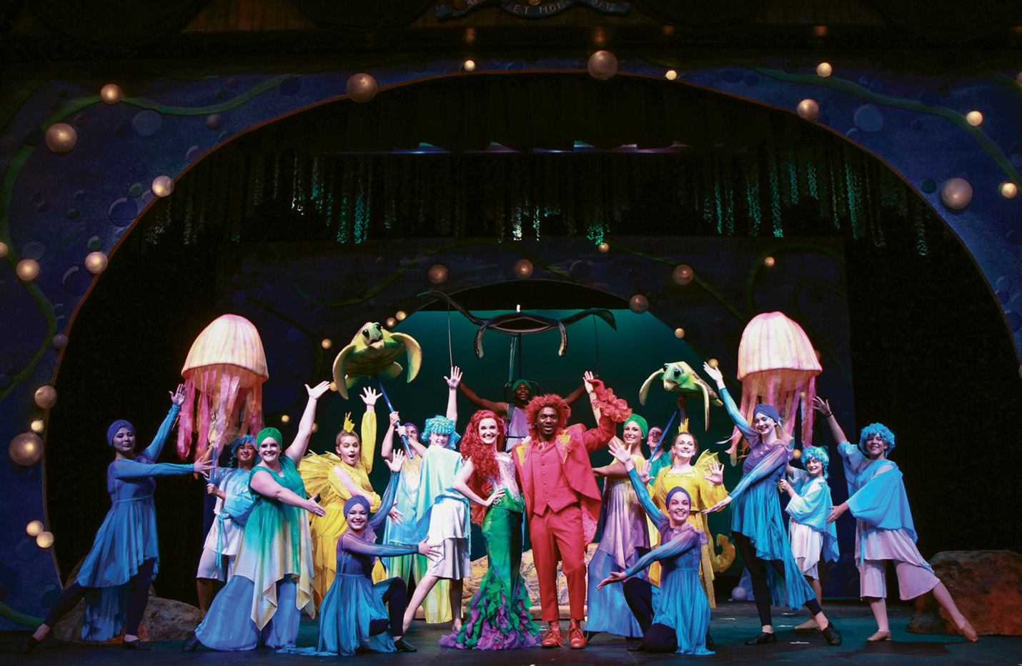 """Making Waves: Charleston Stage's production of Disney's The Little Mermaid at the Dock Street Theatre; its SummerStage Musical Theatre Camp put on a """"junior"""" version as well."""