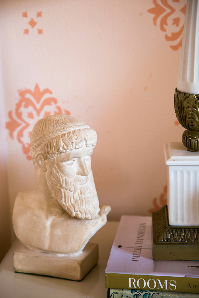 Glennon found the limestone bust of Poseidon while antiquing.