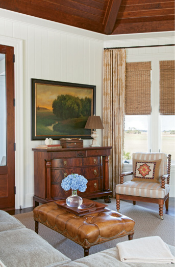 Wood Paneled Den: Charleston Magazine