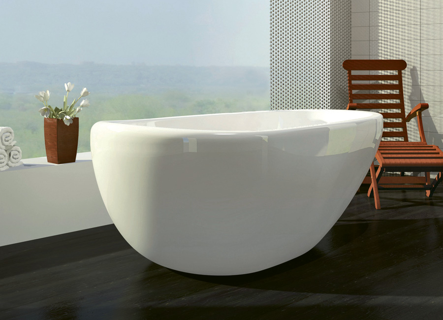 """Essencia"" tub by Bain Ultra, $5,695-$7,750 at Bird  Decorative  Hardware & Bath"