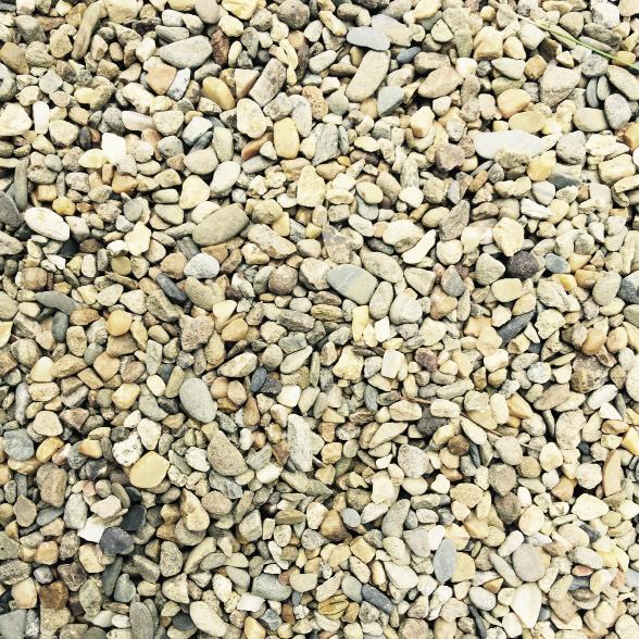 """Cumberland River"" pebble gravel paving, $110 a ton, at Blue Max Materials"