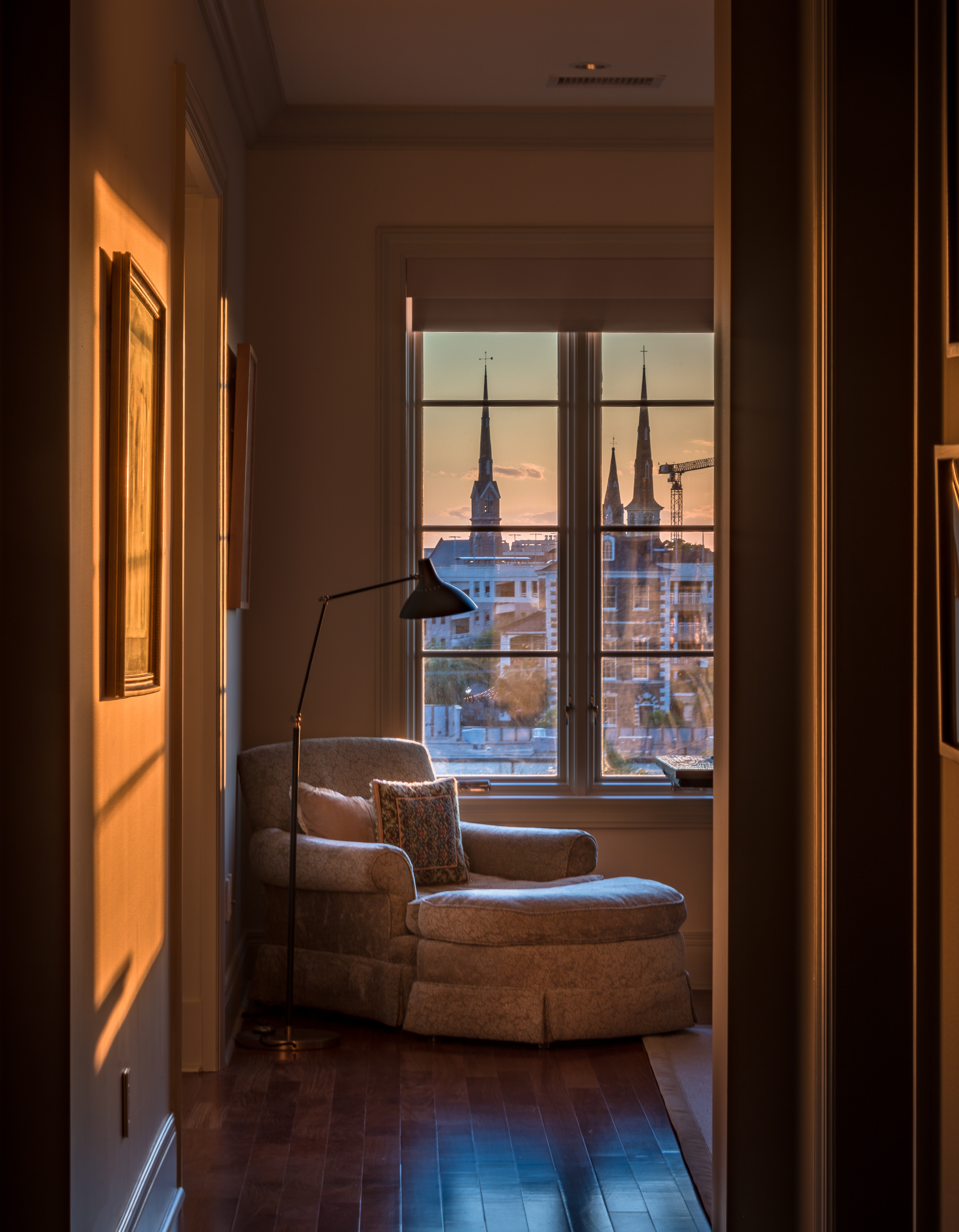 "FINALIST Professional category Holy City by Josh Corrigan; "" A view from the window of a newer Charleston residence showing just how many church spires can be found in one place!"""