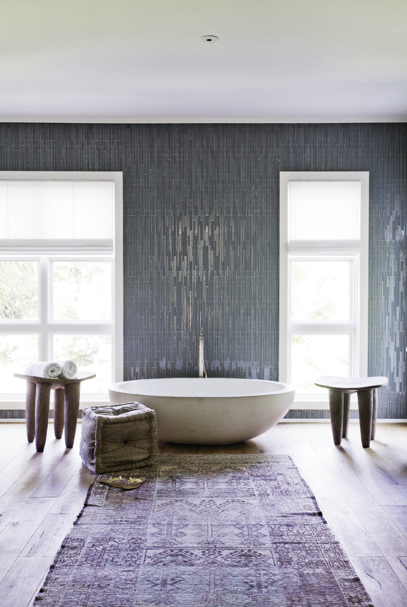 The  team designed the  master bedroom and bath to look and feel like a serene sanctuary.