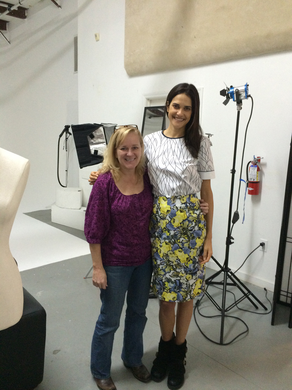 Art director Melinda Smith Monk with model Katarina Scola