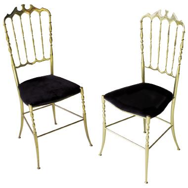 Italian solid brass Chiavari chair, $1,303, at  Regina Garcia Design LLC
