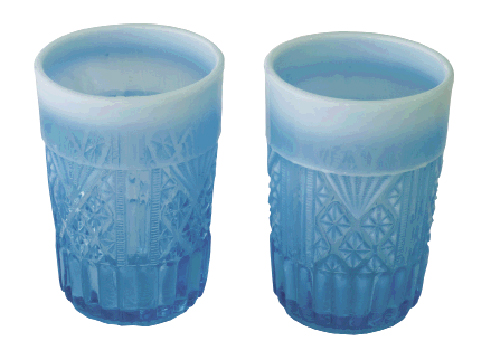 Turquoise pitcher and tumbler set