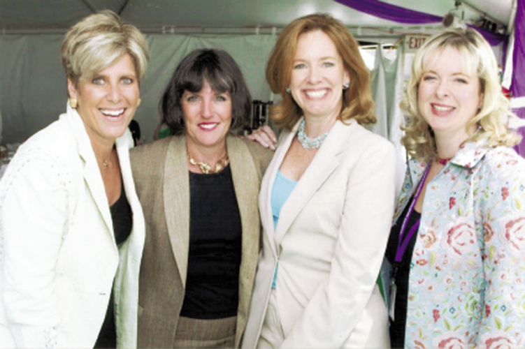 With author and financial guru Suze Orman, marketing expert and bestselling author of Just Ask a Woman Mary Lou Quinlan, and I Don't Know How She Does It author Allison Pearson at the New York Women in Communications' Matrix Awards
