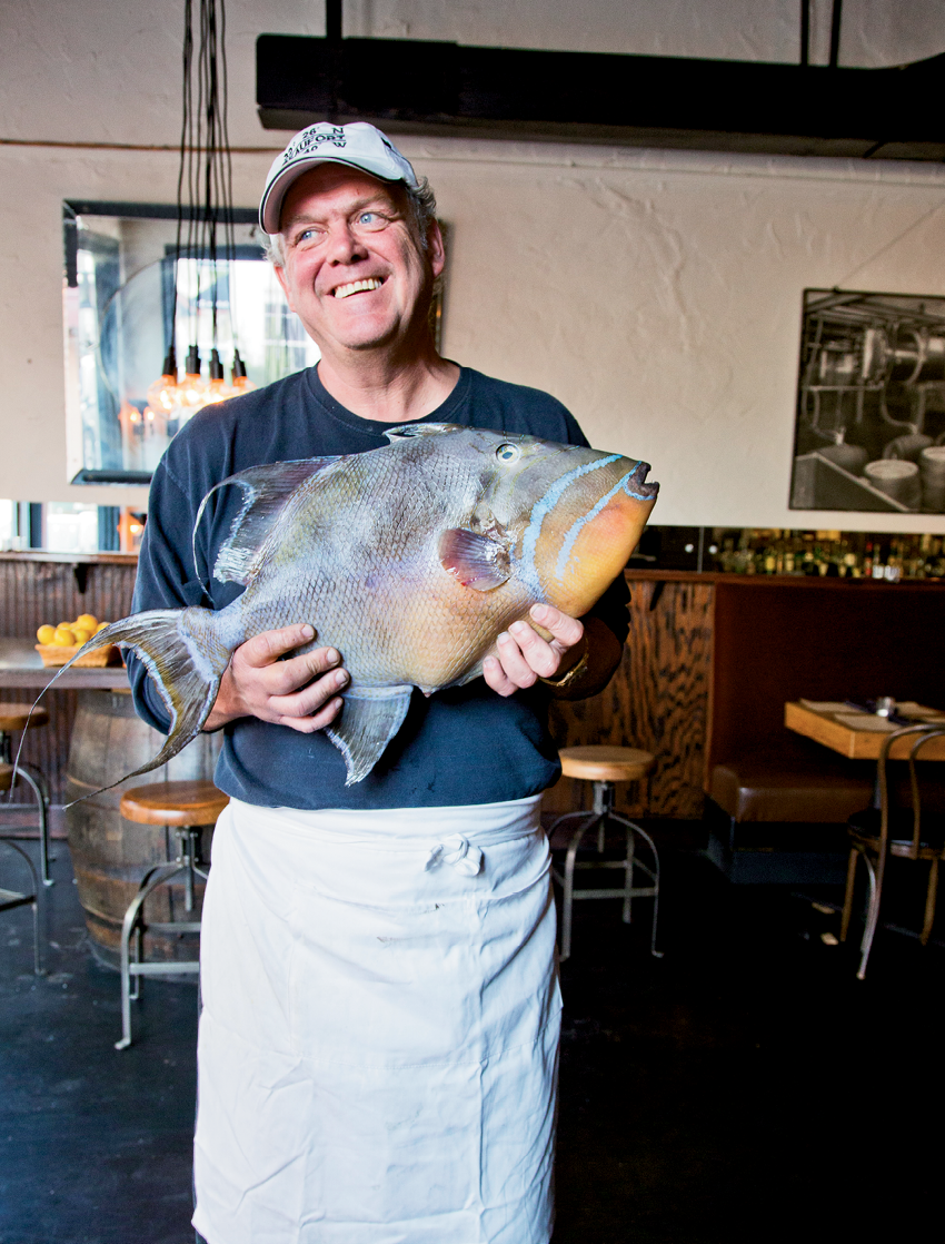 At his Old Bull Tavern in Beaufort, chef-owner John Marshall focuses on the local bounty, like this freshly caught queen triggerfish.