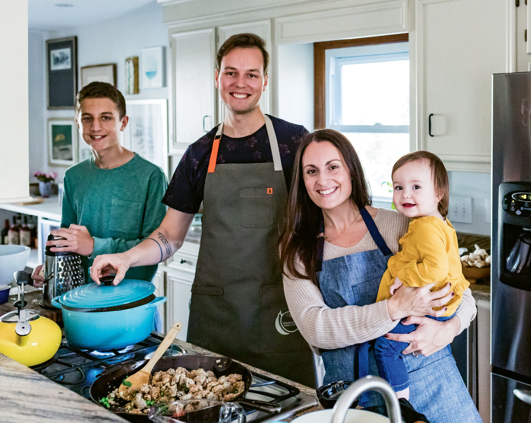 With both a teen and a tot to feed, Gillian and Spencer Zettler lean on family recipes that have proven simple yet delicious for generations.
