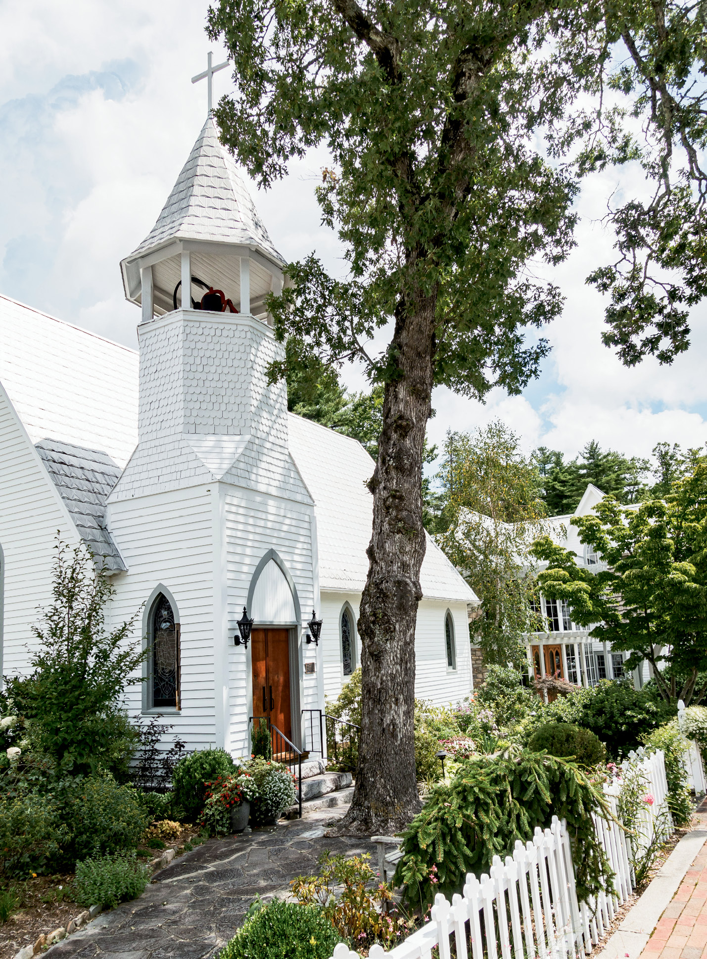 The historical Episcopal Church of the Incarnation on Main Street