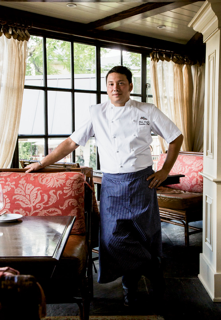 Executive chef Chris Huerta began at the Old Edwards Inn in 2006