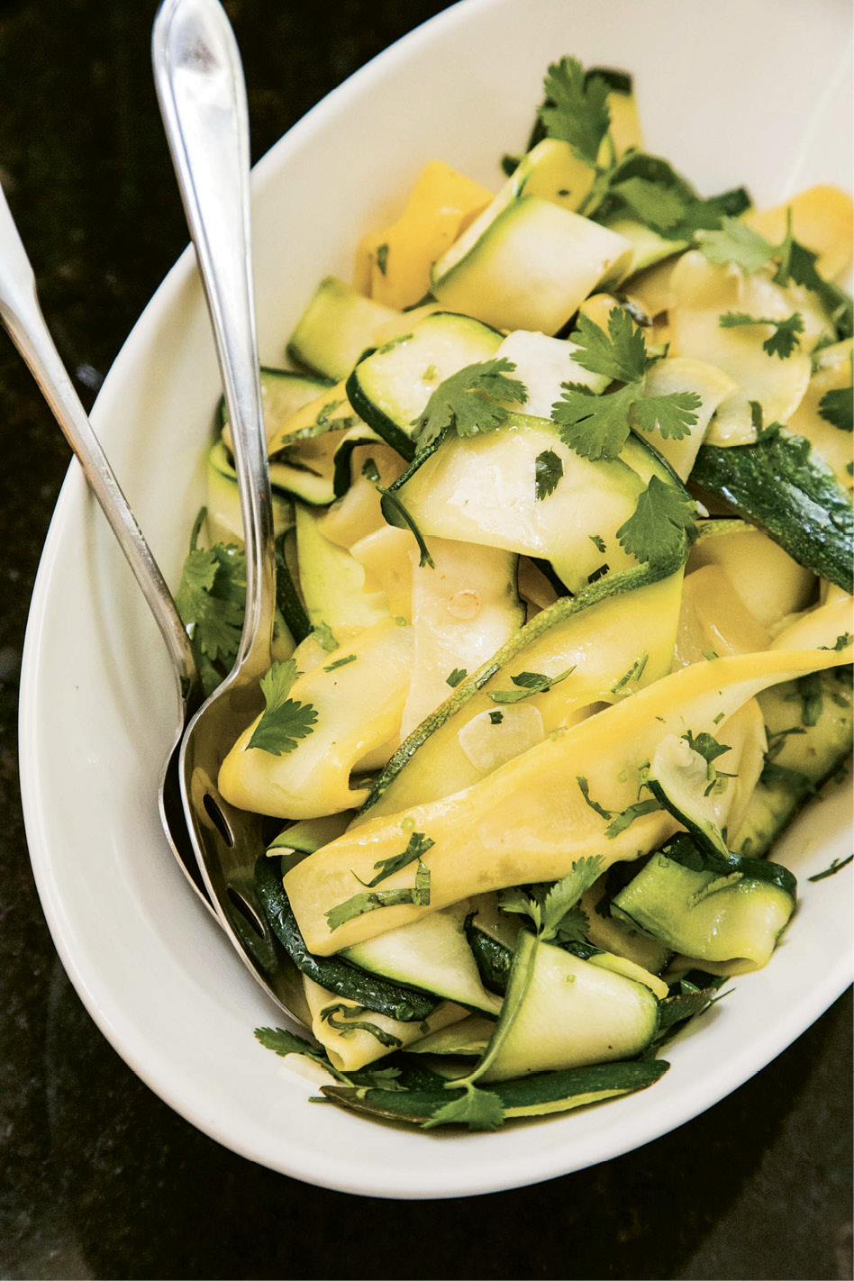 Leftover summer squash tastes great served chilled the next day.