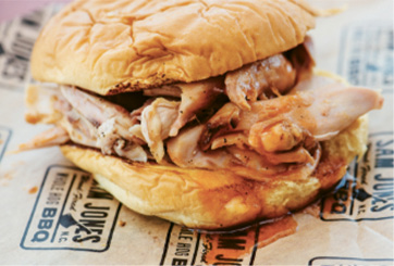 "Superlative Cue: ""Sam Jones's sandwiches in Greenville, NC. I'll eat two of them in a sitting."""