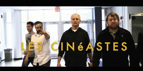 Walkin' the Walk: Barnhardt (second from the left) in a spoof trailer for faux movie Les Cinéastes (The Filmmakers) made with local film buds and the one and only Bill Murray.