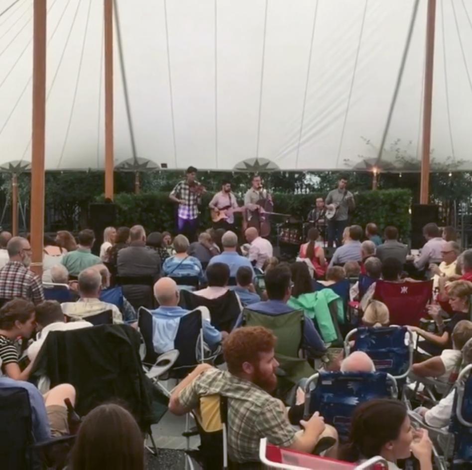 A concert in the Gibbes' Lenhardt garden