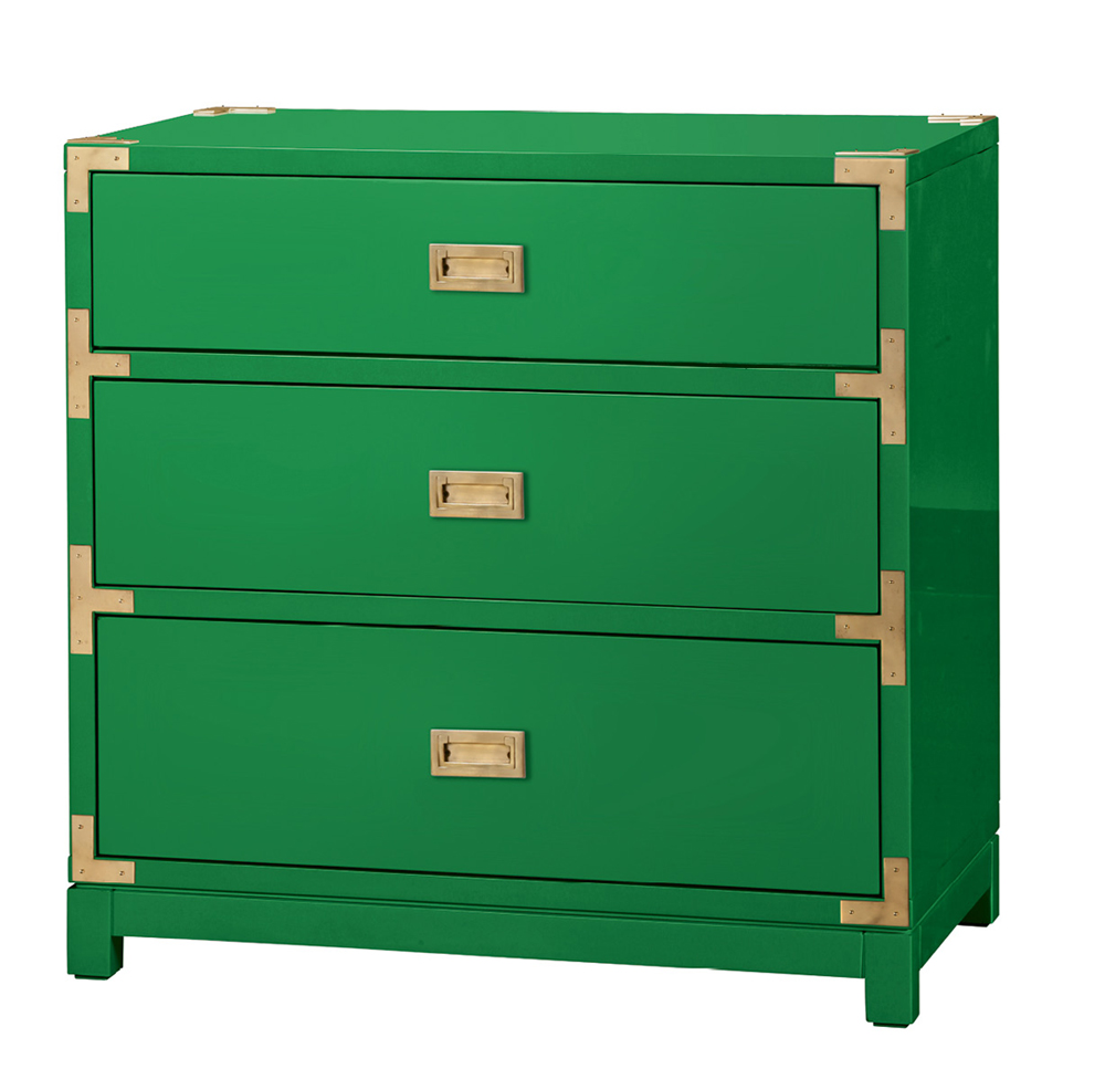 """""""Victoria"""" three-drawer side table by Bungalow 5, $1,259 at Candelabra"""