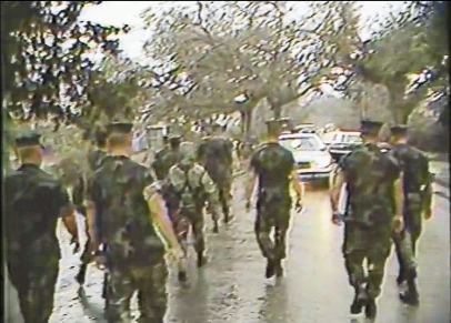 The Marines shut the town down for a day so they could clear roads and check for victims.