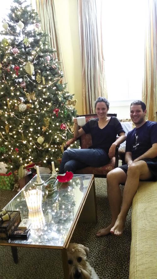Leigh and Ben enjoying Christmas on Tradd Street
