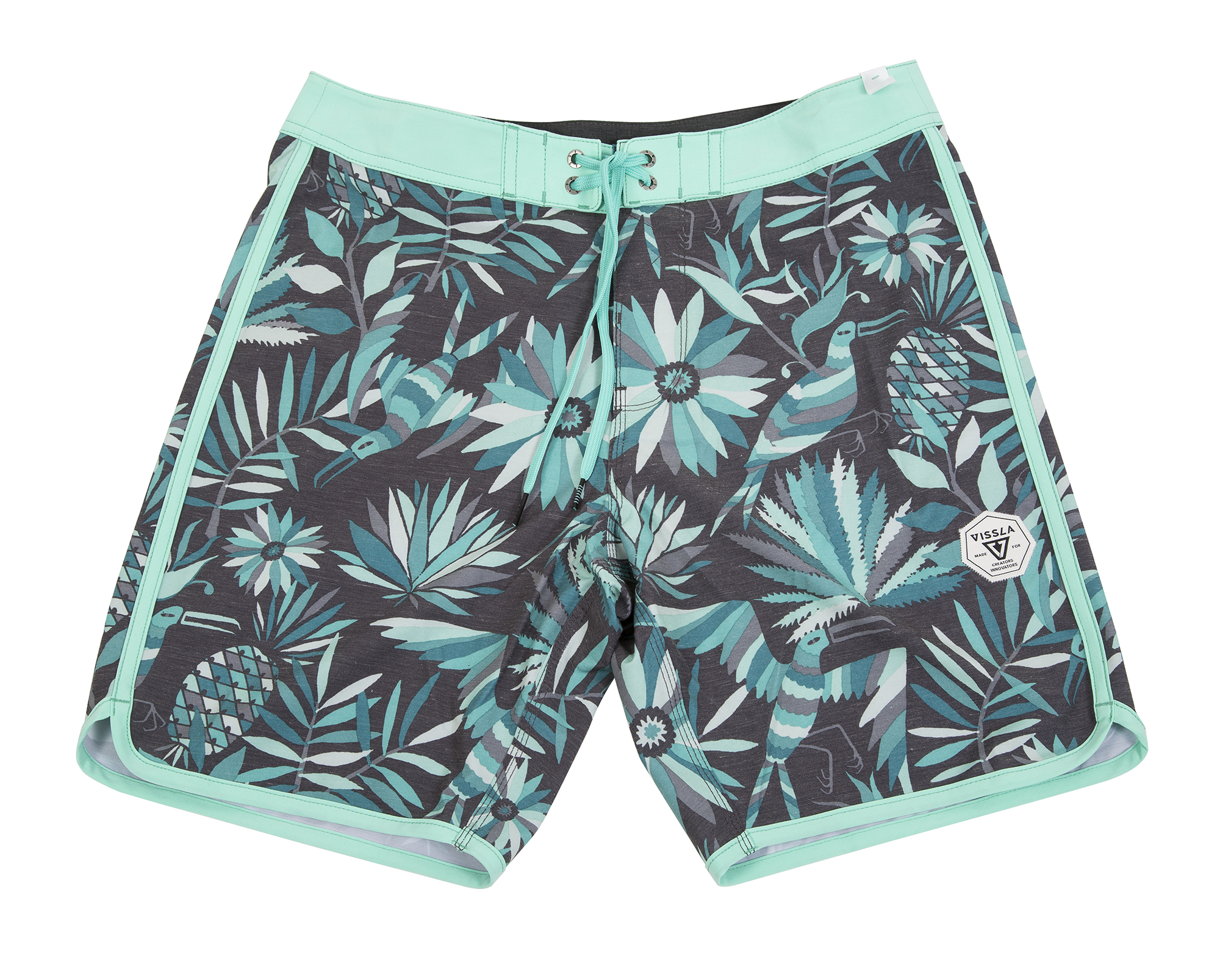 "Vissla ""Aloha Amigo Boardshorts"" in ""phantom,"" $60 at Las Olas"