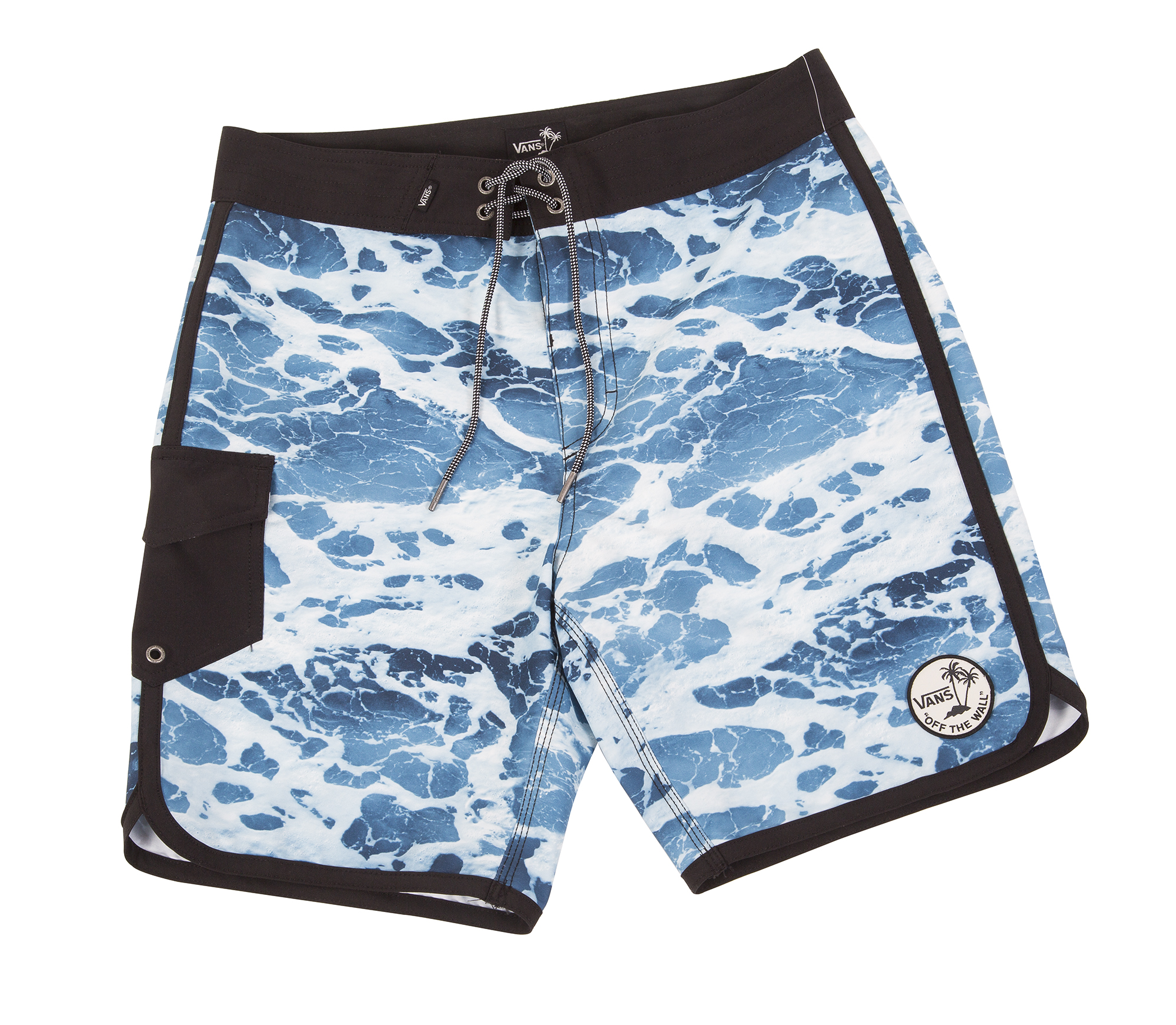 "Vans ""Mixed Scallop Boardshort"" in ""backwash,"" $55 at Channels"