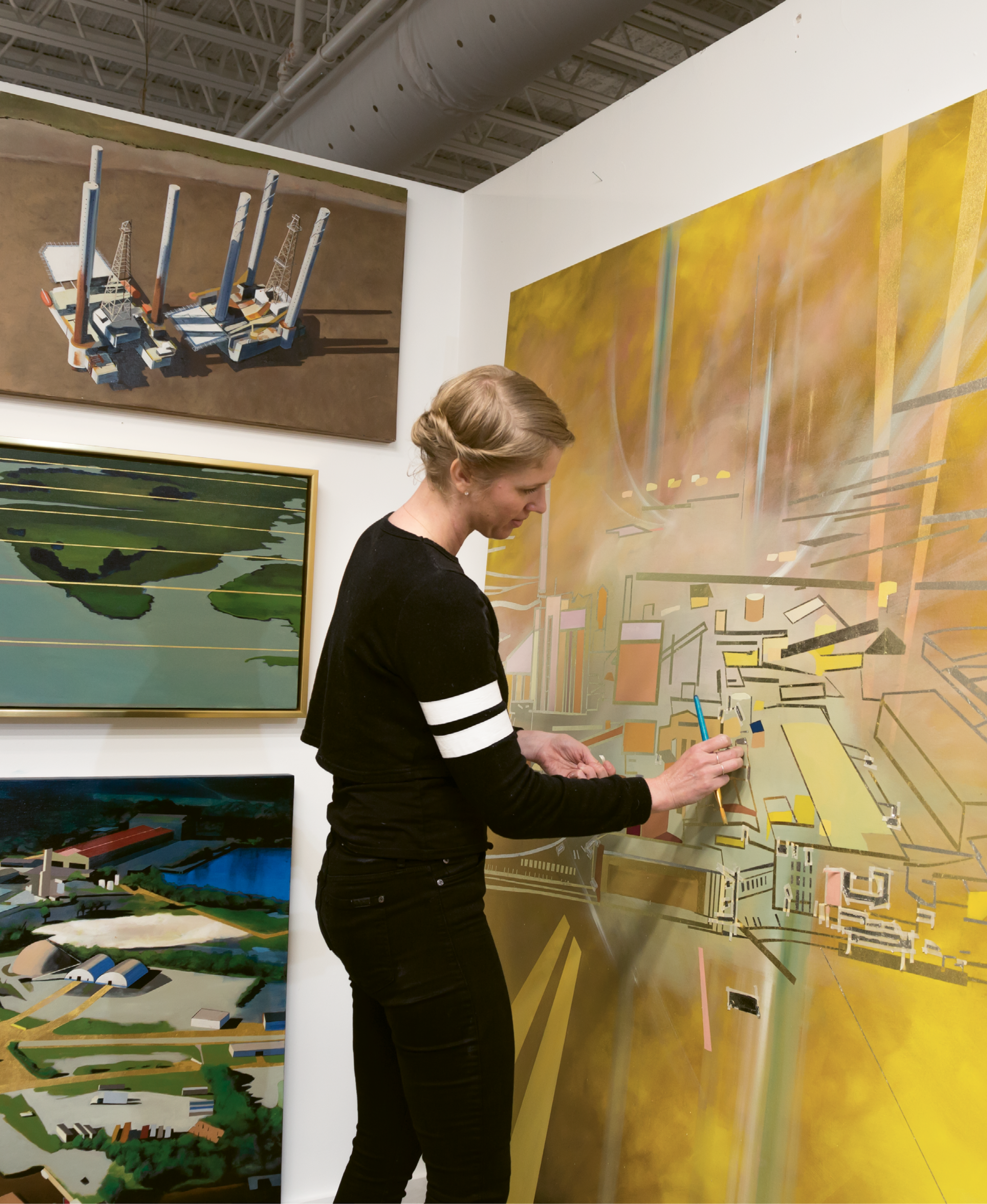 Power in Numbers: As part of its expansion, Redux can offer affordable studio space to more artists, including Kate Hooray Osmond, shown here. The sense of camaraderie and support nurtured among fellow artists is one of many intangible benefits.