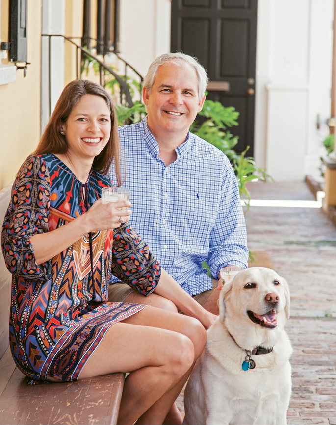 Ann Marshall and Scott Blackwell with their Lab, Sophie